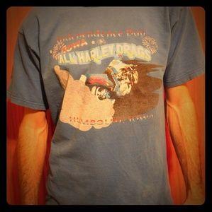 Vintage 98' Harley Drag Race T-Shirt